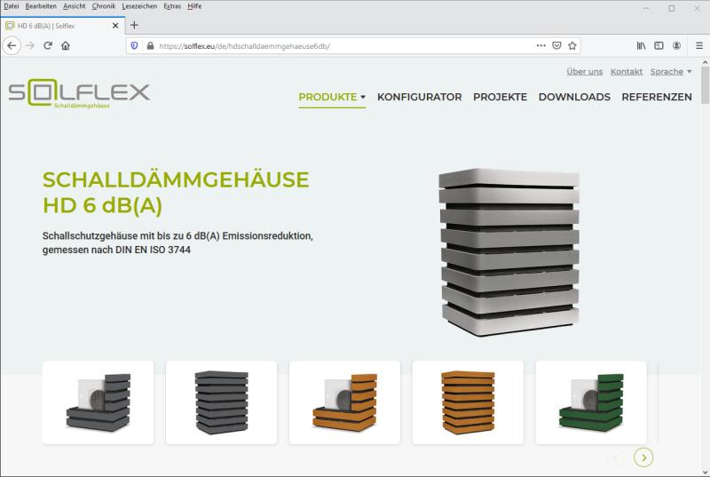 Website und Produktkonfigurator für Solflex